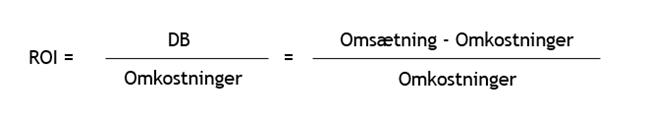 Formel til udregning af ROI eller ROMI